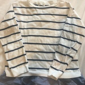 Crew cuts girls knit navy and white stripe as 12